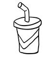 black and white cartoon soda vector image vector image