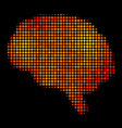 bright dotted brain icon vector image