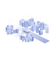 building on white background network sim icon vector image