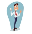 Business man cartoon character- vector image