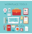 Business workplace with computer vector image vector image