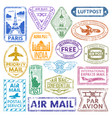 Card stamps vintage postage countries all