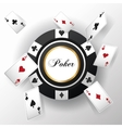 Cards of Poker and chip design vector image vector image
