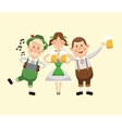 cartoon man woman oktoberfest icon graphic vector image