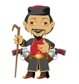 Chinese pilgrim fictional cartoon character vector image vector image