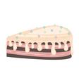 chocolate cake icing vector image