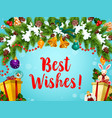 christmas and new year wishes vector image