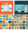 computer technology and electronics devices mobile vector image vector image