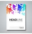 Cover report colorful geometric prospectus design vector image