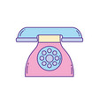 dial operated telephone phone fill and line vector image vector image