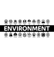 environmental problems minimal infographic banner vector image