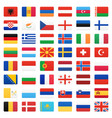 europe flags icons set vector image vector image