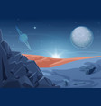fantasy mystery alien landscape another planet vector image