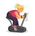fat woman training lose weight fat woman vector image