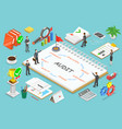 financial audit flat isometric concept vector image vector image