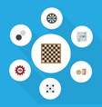flat icon games set of arrow backgammon chequer vector image vector image