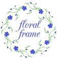 Floral frame wreath design element vector image vector image