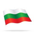 flying bulgarian flag of bulgaria silk vector image vector image
