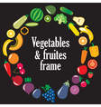 Fruits Vegetables frame vector image vector image