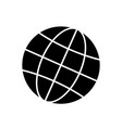 globe-black vector image vector image