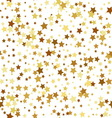 Gold star seamless pattern vector image vector image