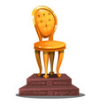 golden statuette in form a vintage chair on vector image vector image
