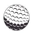 golf sport ball icon vector image vector image