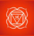 hand drawn chakra muladhara vector image vector image