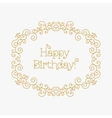 Happy Birthday card mono line style Art lines vector image