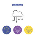 hosting cloud icon vector image vector image