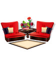 interior of a cozy living room vector image