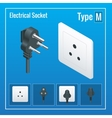 Isometric Switches and sockets set Type M AC vector image vector image