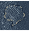 Jeans textured speech bubble vector image vector image