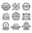 labels and sport logos set with parts of bicycle vector image vector image