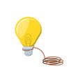light bulb with rope isolated icon vector image vector image