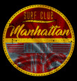 manhattan surf club vector image vector image
