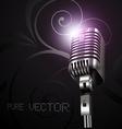 mic in dark background vector image vector image