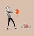 Mime performance - Hypnotizing vector image vector image