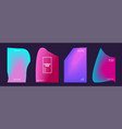 Modern covers design set abstract bright neon