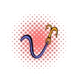 Ninja hook with rope icon comics style vector image vector image