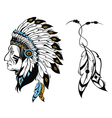 North American Indian chief vector image