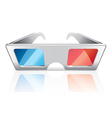 object 3d glasses vector image vector image