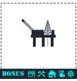 oil platform icon flat vector image vector image