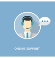 Online support with man vector image vector image
