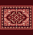 persian carpet indian rug and arabesque abstract vector image vector image