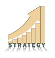 positive trend strategic vector image