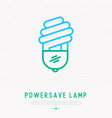 powersave lamp thin line icon vector image