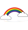 Rainbow icon vector image vector image