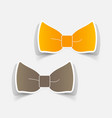 realistic paper sticker bow vector image vector image