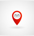red location icon for message eps file vector image